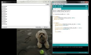 Code and Serial Monitor