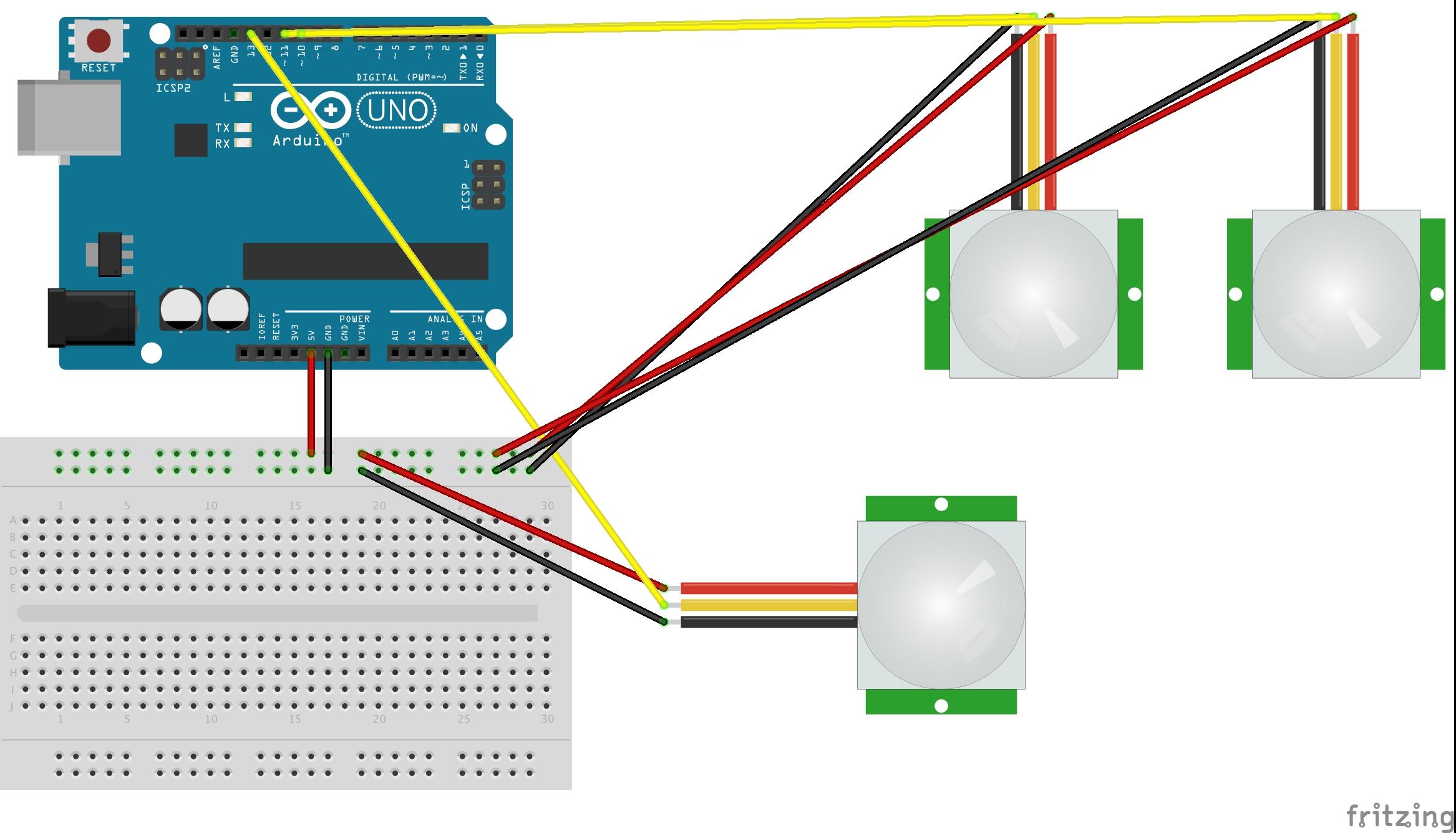 Pir Sensor Based Motion Detector Sensor Circuit Diagram
