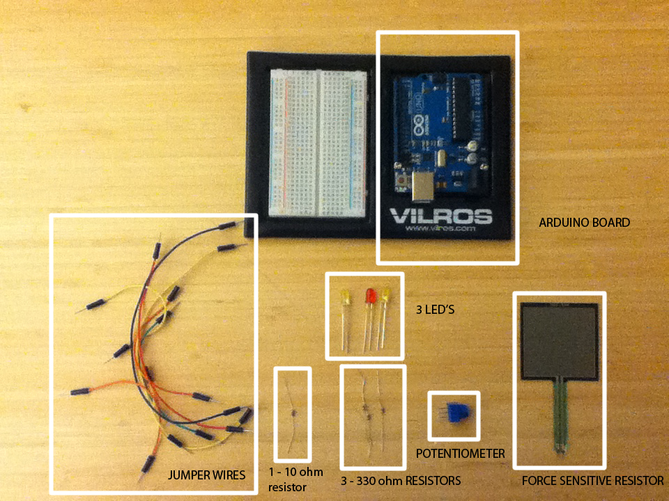 Lighting multiple LEDs with sensors (force sensitive