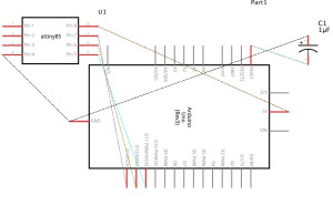 schematic ATtiny 85